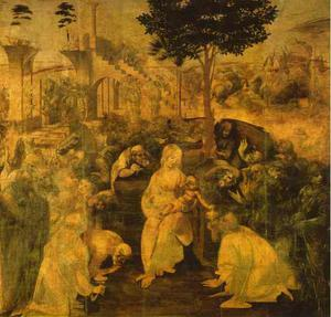 Leonardo Da Vinci - Adoration of the Magi