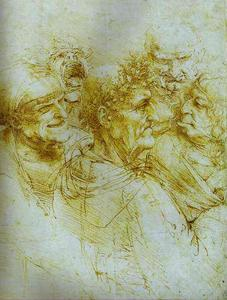 Leonardo Da Vinci - Five Grotesque Heads