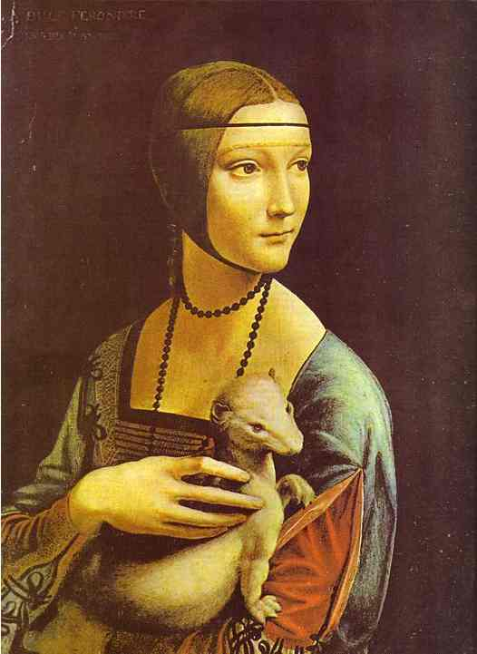Portrait of Cecilia Galleran, Oil by Leonardo Da Vinci (1452-1519, Italy)