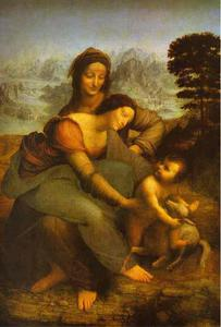 Leonardo Da Vinci - Virgin and Child with St. Anne