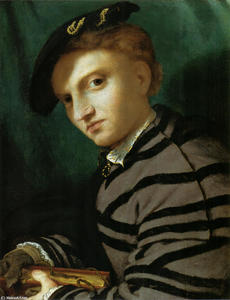 Lorenzo Lotto - Portrait of a Young Man With a Book