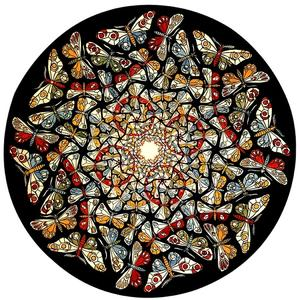 Maurits Cornelis Escher - Circle Limit with Butterflies