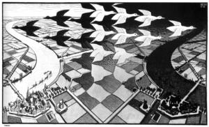Maurits Cornelis Escher - DAY AND NIGHT