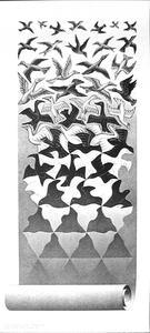 Maurits Cornelis Escher - Liberation, 1955