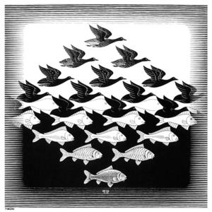 Maurits Cornelis Escher - Sky And Water