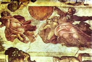 Michelangelo Buonarroti - The Creation of the Sun and Moon