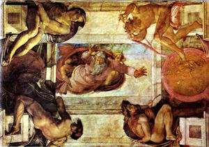 Michelangelo Buonarroti - The Separation of Land and Water