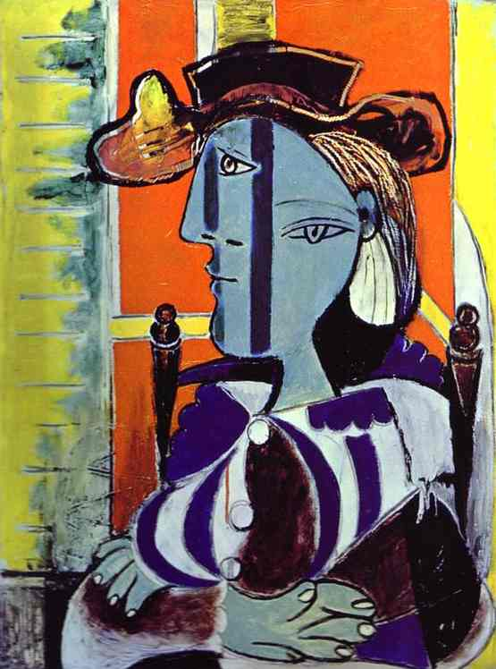 Marie-Therese Walter, Oil by Pablo Picasso (1881-1973, Spain)