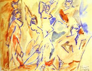 Pablo Picasso - Sketch for The Demoiselles d-Avignon
