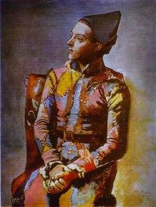 Pablo Picasso - The Seated Harlequin