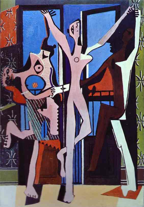 Three Dancers, Oil by Pablo Picasso (1881-1973, Spain)