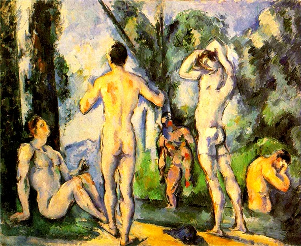 Bathers (Hermitage) by Paul Cezanne (1839-1906, France) | Famous Paintings Reproductions | WahooArt.com