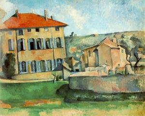 Paul Cezanne - House and Farm at Jas de Bouffan