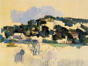 Paul Cezanne - Houses on the Hill (River Bank)
