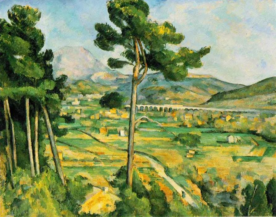 Mont Sainte-Victoire (Metropolitan), Oil On Canvas, Charcoal by Paul Cezanne (1839-1906, France)