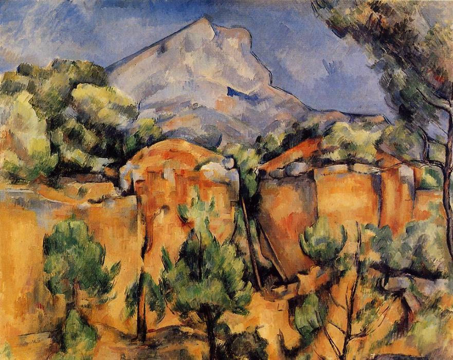 Mont Sainte-Victoire Seen from the Bibemus Quarry, 1897 by Paul Cezanne (1839-1906, France) | Oil Painting | WahooArt.com