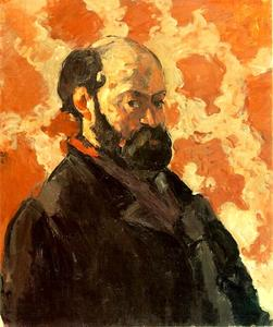 Paul Cezanne - Self-Portrait with Rose Background