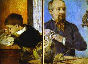 Paul Gauguin - Aube the Sculptor and His Son