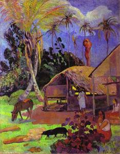 Paul Gauguin - Black pigs