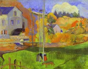 Paul Gauguin - Breton Landscape (The Moulin David)