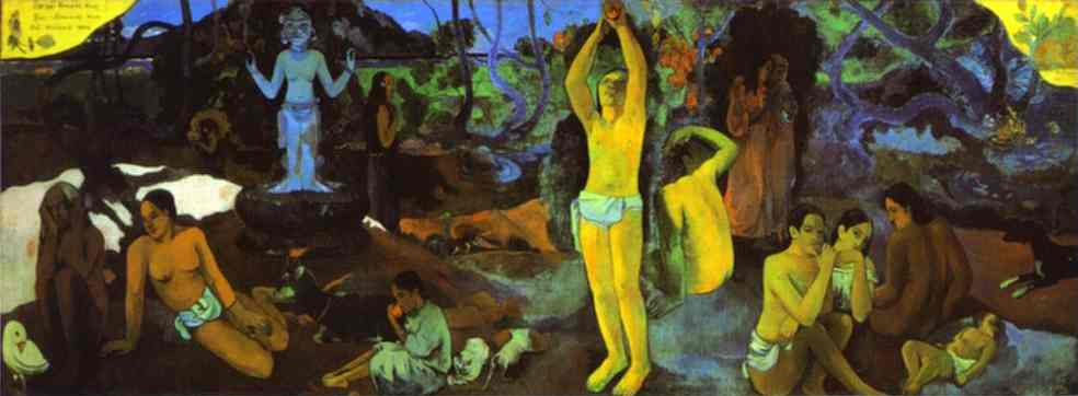 D`où venons nous Que sommes-nous Où allons-nous (Where Do We come from. What Are We. where Are We Going) by Paul Gauguin (1848-1903, France) | Museum Quality Reproductions | WahooArt.com