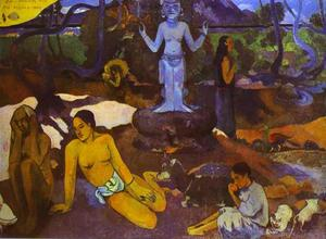 Paul Gauguin - D'où venons nous Que sommes-nous Où allons-nous (Where Do We come from. What Are We. where Are We Going) - (oil painting reproductions)