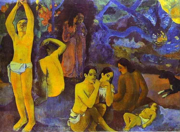 D'où venons nous Que sommes-nous Où allons-nous (Where Do We come from. What Are We. where Are We Going), Oil by Paul Gauguin (1848-1903, France)
