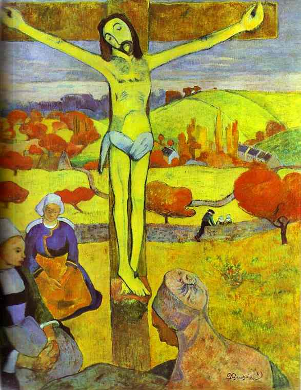 The Yellow Christ, Oil by Paul Gauguin (1848-1903, France)