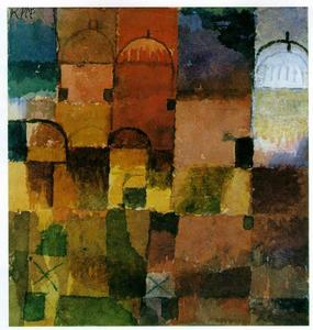 Paul Klee - Red and White Domes