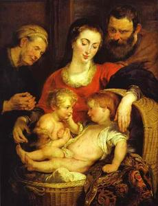 Peter Paul Rubens - Holy Family with St. Elizabeth (Madonna of the Basket)