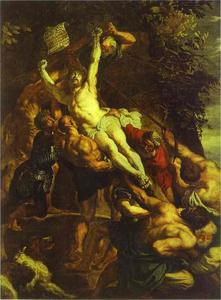 Peter Paul Rubens - The Elevation of the Cross (central part of the triptych)