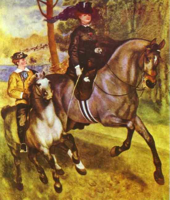 Order Museum Quality Copies | A Morning Ride in the Bois de Boulogne by Pierre-Auguste Renoir (1841-1919, France) | WahooArt.com