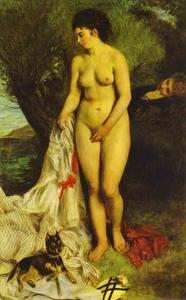 Pierre-Auguste Renoir - Bather (La Baigneuse au griffon)