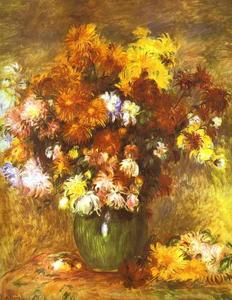 Pierre-Auguste Renoir - Bouquet of Chrysanthemums