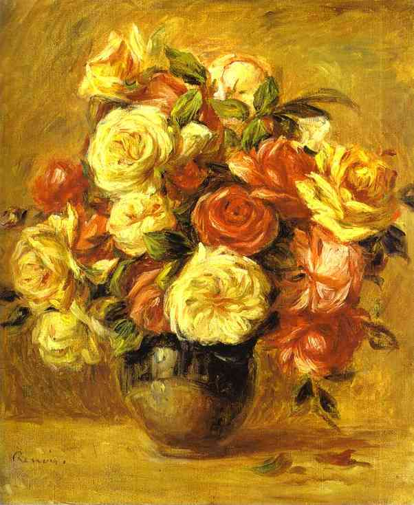 Bouquet of Roses (Bouquet de roses) by Pierre-Auguste Renoir (1841-1919, France) | WahooArt.com