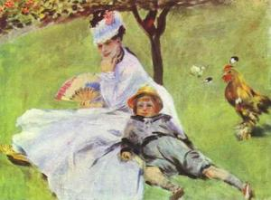 Pierre-Auguste Renoir - Madame Monet with Her Son