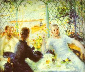 Pierre-Auguste Renoir - The Luncheon of the Boating Party - (oil painting reproductions)
