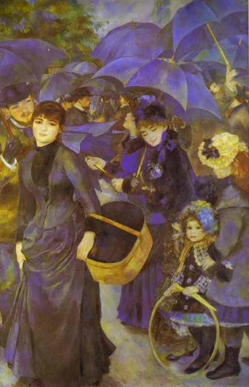 The Umbrellas by Pierre-Auguste Renoir (1841-1919, France) | Museum Quality Reproductions | WahooArt.com