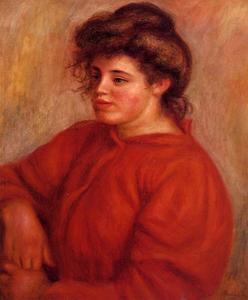 Pierre-Auguste Renoir - Woman in a Red Blouse