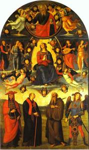 Vannucci Pietro (Le Perugin) - The Assumption of the Virgin with Saints