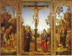 Pietro Perugino (Pietro Vannucci) - The Crucifixion with the Virgin, St. John, St. Jerome and St. Mary Magdalene