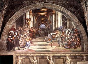 Raphael (Raffaello Sanzio Da Urbino) - Stanze Vaticane - The Expulsion of Heliodorus from the Temple