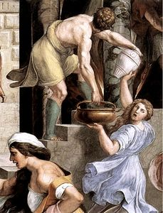 Raphael (Raffaello Sanzio Da Urbino) - Stanze Vaticane - The Fire in the Borgo (detail) [02]