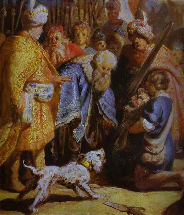 David Presenting the Head of Goliath to King Saul by Rembrandt Van Rijn (1606-1669, Netherlands) | Painting Copy | WahooArt.com