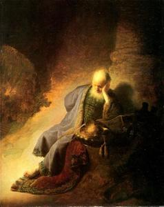 Rembrandt Van Rijn - Jeremiah Lamenting the Destruction of Jerusalem