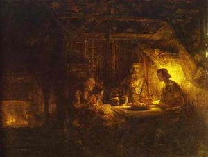 Rembrandt Van Rijn - Philemon and Baucis