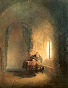 Rembrandt Van Rijn - Philosopher Reading