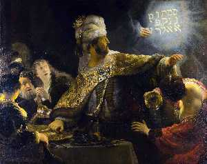 Rembrandt Van Rijn - The Feast of Belshazzar [c. 1635]