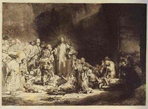 Rembrandt Van Rijn - The Little Children Being Brought to Jesus (The 100 Guilder Print)