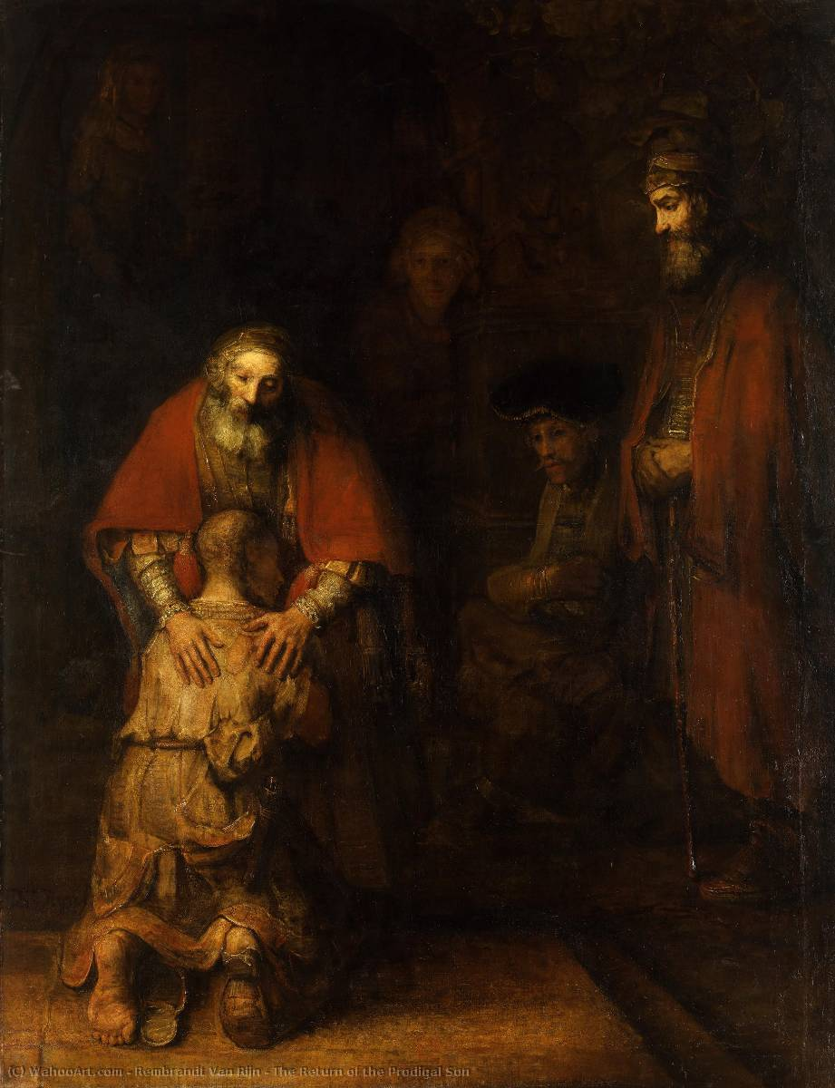 The Return of the Prodigal Son, Oil On Canvas by Rembrandt Van Rijn (1606-1669, Dutch Republic (Now The Netherlands))